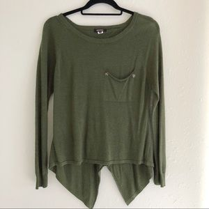 Never Worn Green Sheer Back Detail Sweater